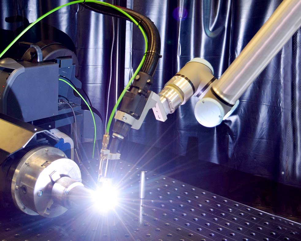 The welding robot RBCobot welding with a TIG-torch