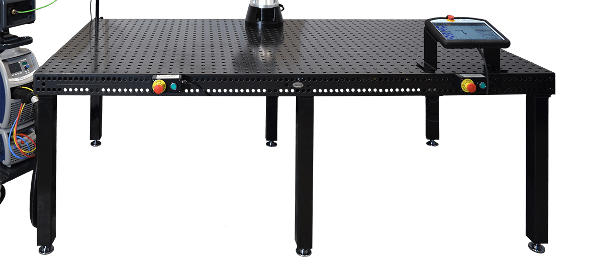 Samlet TIG setup (ny fritlægning) fokus på bord mindre